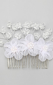 Women's / Flower Girl's Crystal / Alloy Headpiece-Wedding / Special Occasion Hair Combs 1 Piece