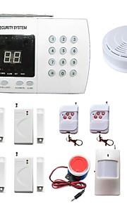 PSTN huset innbruddsalarm systemer sikkerhet trådløse hjemme 99 soner med røykvarsler pir dørsensor ALARME samtale