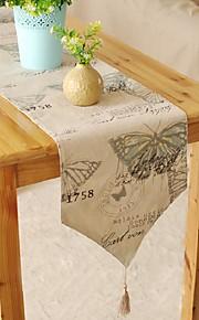 mediterrane stijl vlinder patroon tafelloper mode hotsale hoogwaardige katoen tafelblad deco