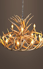 vintage Antler chandelier lighting Industrial Fixture Country 12-Lights for Living Room Dining room Easy Installation