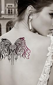 Fashion Large Temporary Tattoos Sexy Body Art Waterproof Tattoo Stickers Butterfly 2PCS