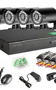 8-kanals 960h netværk dvr 4stk 1000tvl ir udendørs CCTV overvågningskameraer systemet