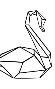 애니멀 / 카툰 벽 스티커 플레인 월스티커,PVC M:49*42cm/L:66*56cm