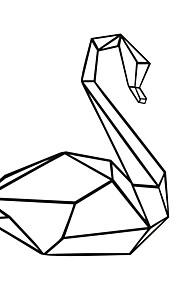 Animales / Caricatura Pegatinas de pared Calcomanías de Aviones para Pared,PVC M:49*42cm/L:66*56cm