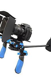 dslr rig sæt film kit skulder mount rig med mat boks til videokameraer