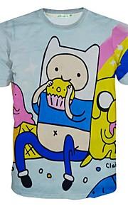Kortærmet Tryk Mænds T-shirt Sport Polyester