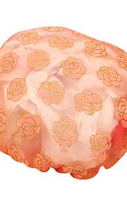 방수 샴푸 여성 패션 새틴 샤워 캡 목욕 머리를 거즈