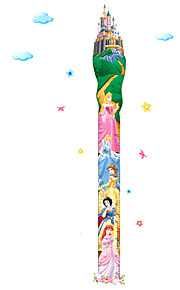 20-170Cm Snow White Fairy Tale Castle Girls Height Stickers Creative Kids Bedroom Kindergarten Wall Stickers Removable