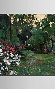 Peint à la main Paysage Modern / Style européen,Un Panneau Peinture à l'huile Hang-peint