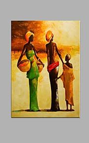 käsinmaalattu abstrakti afrikkalainen naiset öljymaalaus kotiravintola sisustus venytetty runko