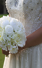 Wedding Peonies Flowers Bouquets for Lady (White / Pink)