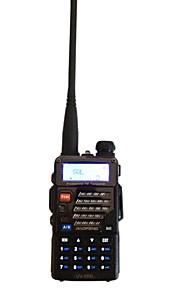 Baofeng UV-5RB Walkie-talkie 5W/1W 128 400-470 mHz / 136-174 mHz 1800mAh 3-5 kmFM-radio / Nødalarm / Programmerbar med PC software /