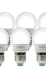 3W E26/E27 Ampoules Globe LED G60 6 SMD 210-240 lm Blanc Chaud / Blanc Froid Décorative AC 100-240 V 6 pièces