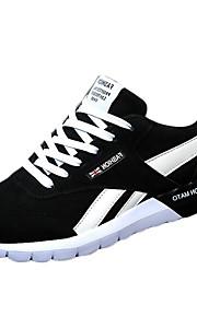 Men's Spring / Summer / Fall Comfort Fleece Athletic Flat Heel Black / Blue / Red Sneaker