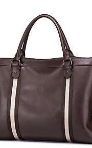 SAMMONS Men Real Genuine Cowhide Leather Purse Briefcase Hand Bag Portfolio Tote Laptop Stripes Blue / Brown / Black