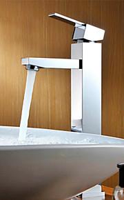 Moderne Centersat Enkelt håndtag Et Hul in Krom Håndvasken vandhane