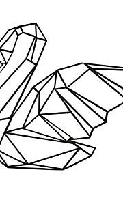 애니멀 / 카툰 / 모양 / 레져 벽 스티커 플레인 월스티커,PVC M:42*50cm/L:56*66cm