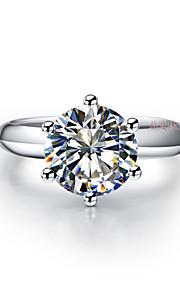 1: 1 fertigte T-Markenqualität 1.5Ct Solitär Fingerring Verlobungsring sona Diamant 6prongs Sterling Silber Einstellung