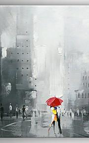 Maalattu Abstrakti Moderni,1 paneeli Hang-Painted öljymaalaus