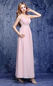 Floor-length Chiffon Bridesmaid Dress A-line Sweetheart with Beading