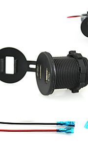 iztoss 2.1a&2.1a Dual USB oplader mobiele telefoon oplader stopcontact met een voltmeter licht en 15cm snoeren