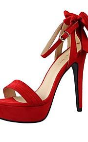 Chaussures Femme-Mariage / Habillé / Soirée & Evénement-Rose / Rouge / Orange-Talon Aiguille-Bout Ouvert / A Plateau-Sandales-Daim