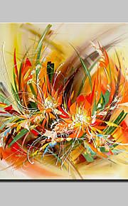 מצויר ביד פרחוני/בוטני מודרני,פנל אחד ציור שמן צבוע-Hang