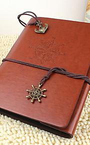 DIY 18 * 22 cm læder cover håndlavet scrapbog fotoalbum 30pcs sort papir til familie / baby / kærester / gaver rødt / kaffe