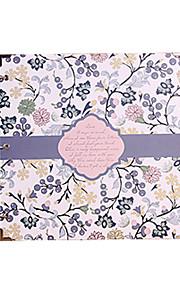 DIY 29 * 29 cm 16inch håndlavet scrapbog fotoalbum 30pcs sort papir - blomst til familie / baby / kærester / gaver / bryllup