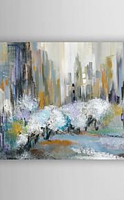 käsin maalattu öljymaalaus abstrakti kaupunki sinisellä venytetty runko 7 seinä arts®