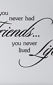 If You Never Had Friedns You Never Lived Life Wall Stickers