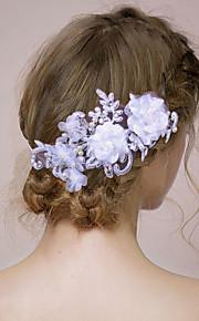 Capacete Bandanas / Flores Casamento / Ocasião Especial Cetim / Imitação de Pérola Mulheres / Menina das FloresCasamento / Ocasião