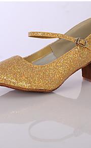 Sapatos de Dança(Prateado / Dourado) -Feminino-Personalizável-Latina