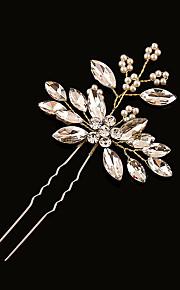 Femme Strass / Laiton / Imitation de perle Casque-Mariage Epingle à Cheveux 1 Pièce Clair Ovale 19