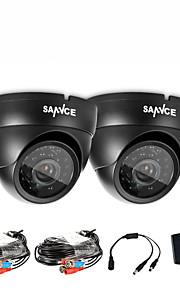 sannce® nuova cupola AHD 720p kit per macchine fotografiche CCTV esterno del sistema resistente alle intemperie di sicurezza domestica, la