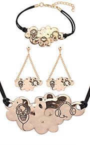 Европейский стиль мода простой облако металл набор браслет ожерелье серьги