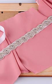 새틴 웨딩 / 파티/이브닝 / 일상복 창틀-비즈 / 모조 다이아몬드 여성 98 ½인치(250cm) 비즈 / 모조 다이아몬드