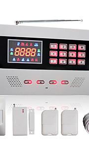 gsm trådløs&kablet automatisk oppringing hjem alarmsystem med fargeskjerm og 120 trådløse soner