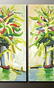 Håndmalte Still Life Moderne,To Paneler Lerret Hang malte oljemaleri