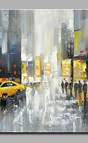 Maalattu Abstrakti Classic / Moderni,1 paneeli Kanvas Hang-Painted öljymaalaus