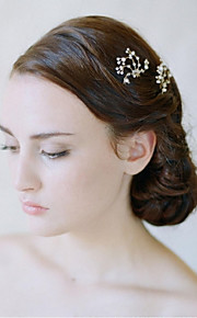 Women's Alloy Headpiece-Wedding / Special Occasion Flowers / Hair Stick  2 Pieces Clear