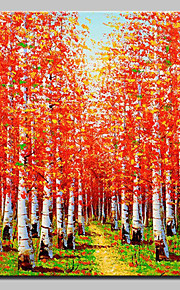Hand Painted Canvas Oil Painting Modern Abstract Tree Landscape Picture With Stretched Frame Ready To Hang 80x120cm