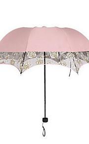 Hochzeit / Alltag Spitzen / Terylen Regenschirm Post-Handle ca.65cm Kunststoff ca.90cm