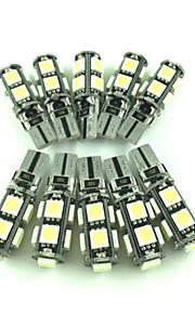 10stk t10 13smd 5050 CANbus fejlfri interiør lys førte ingen advarsel lamper kile pærer (DC12V)