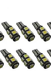 10stk t10 9smd 5050 hvid farve CANbus dc 12v bil LED lys interiør pærer kile lampe