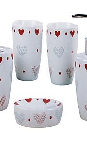 Modelo del amor del corazón baño de cinco piezas traje de la caja +