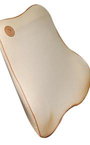 Beige Car With Backrest Cushion Massage Waist Lumbar Support Memory Foam Tray