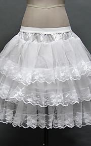 Anáguas(Rede Tule / Poliéster,Branco) -Slip de Baile-50cm-3