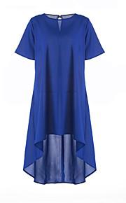 Женское свободное платье с короткими рукавами
