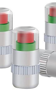 vier geïnstalleerd metalen kap controle van de bandenspanning bandenspanning ventieldopje
